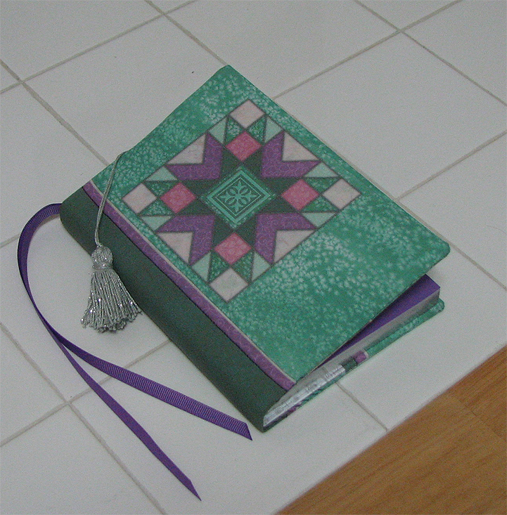 Quilted Fabric Book Cover