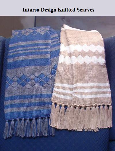 Intarsa Design Knitted Scarves