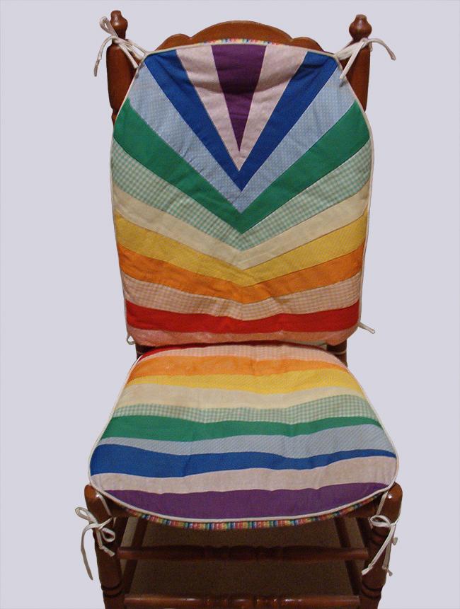 Rainbow Stripe Chair Cushions
